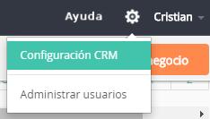 Configuración en DataCRM